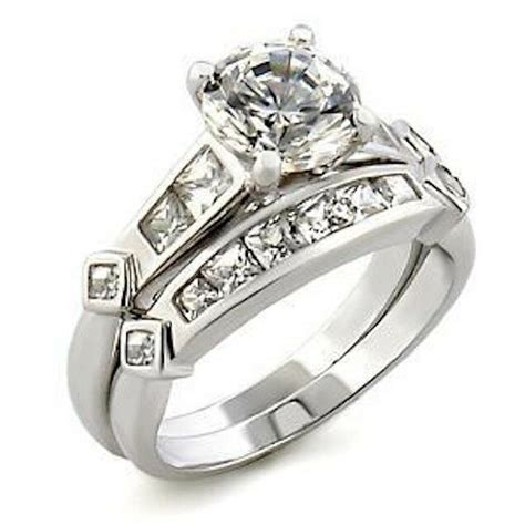 wedding rings from usa silver wedding engagement rings cubic zirconia channel size 8 9 10 11 12 usa ebay
