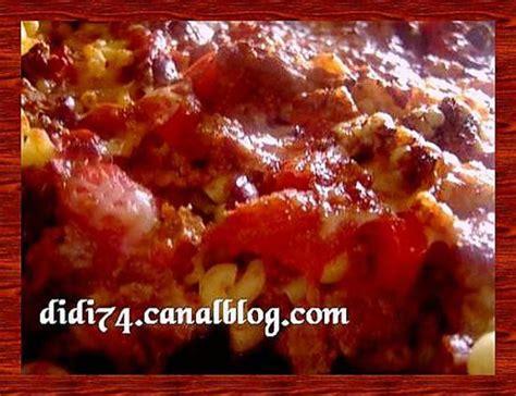 recette de pate de cagne recette de gratin de p 226 tes fa 231 on chili con carne