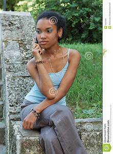 Black Girl With Mobile Phone Royalty Free Stock Photo ...