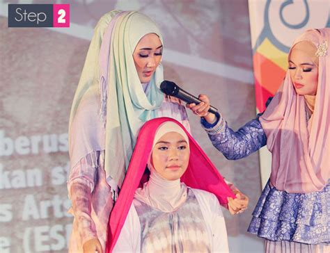 video gambar tutorial  memakai jilbab modern