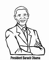 Coloring Obama Barack Pages Presidents President Printable History Clipart Beowulf Facts Cliparts American Printables African Dad Mom Outline Popular Americans sketch template