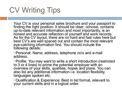How To Write Your Cv by How To Write Your Cv