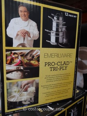emeril   clad  piece stainless steel cookware set