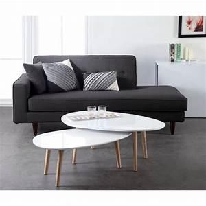 Table Basse Galet Led : galet table basse 98 cm laqu e blanche achat vente ~ Melissatoandfro.com Idées de Décoration