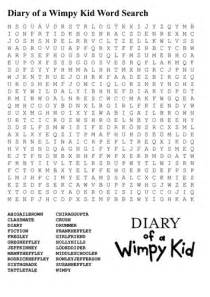 Diary of Wimpy Kid Word Search