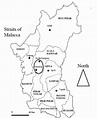 Map of Perak State in Peninsular Malaysia and survey areas ...