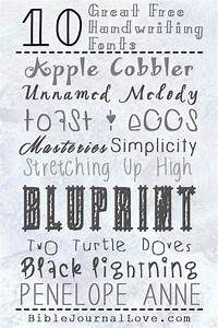 10 great free handwriting fonts for bible journaling With bible journaling lettering