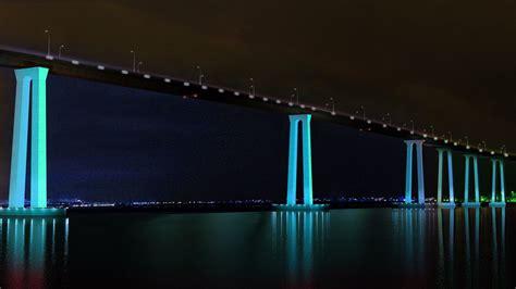 kaldwin s bridge wall of light coronado bridge lighting moving to design phase the san