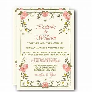 cheap print floral spring rustic wedding invitation wip001 With print cheap wedding invitations online
