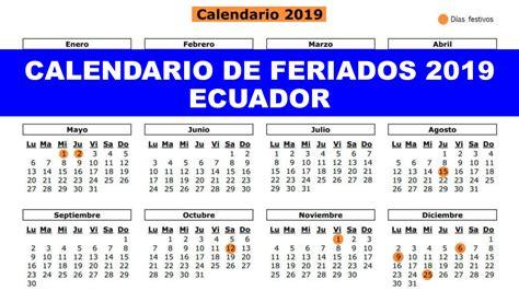 calendario de feriados ecuador ecuador en linea