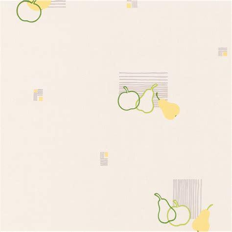 papier peint pomme poire blanc vert papier cuisine et bain leroy merlin