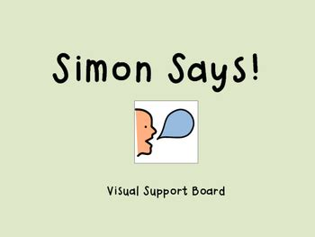 Simon Says Game Visual Support by Julia Miller | TpT