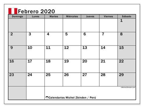 calendario febrero peru michel zbinden es