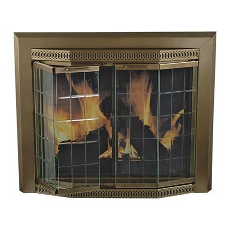 pleasant hearth grandior fireplace glass door for