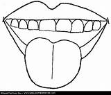 Mouth Tongue Coloring Human Template Cara Partes Pages Mi Spanish Templates sketch template