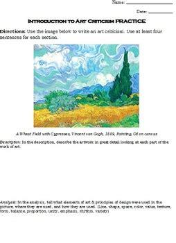 introduction  art criticism  lesson lady teachers