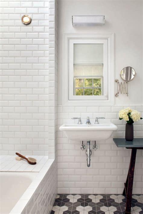 good  glossy white subway tile  wainscoting