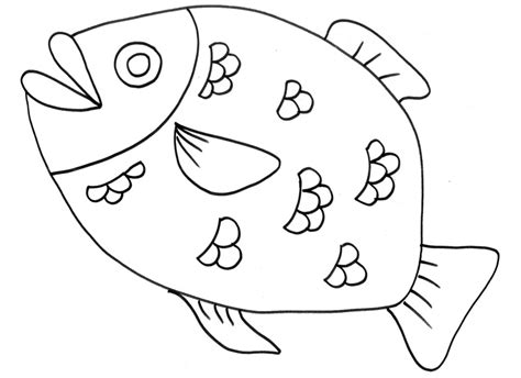 pesci da colorare per bambini scuola infanzia grosso pesce con squame