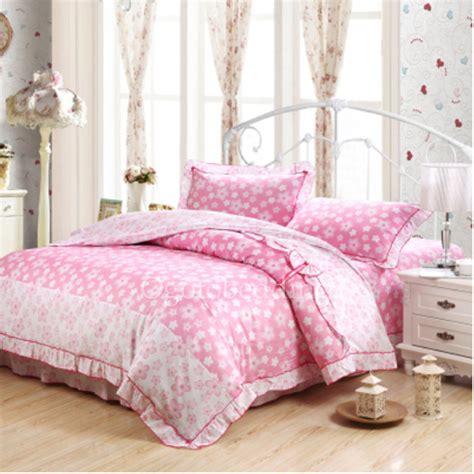 pink floral cheap discount king comforter sets  girls