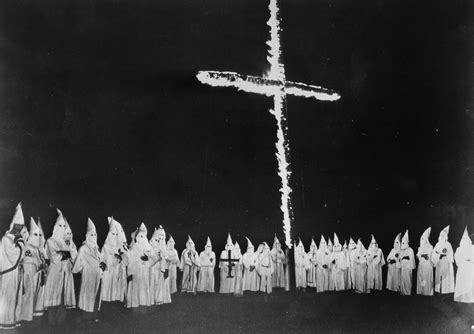 Why does the Ku Klux Klan burn crosses? They got the idea ...