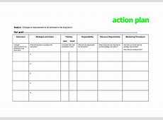 Action Plan Template Microsoft Best Letter Sample