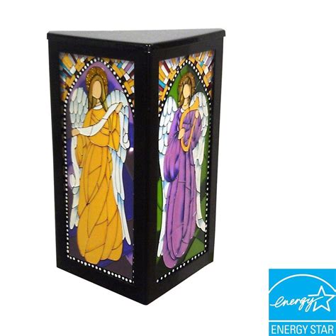 it s exciting lighting 4 led wall mount stained glass