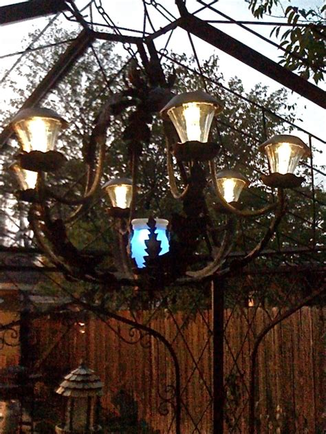 diy solar light chandelier hometalk