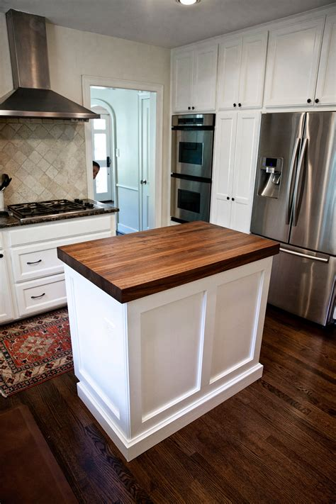 walnut kitchen island counters  west university texas