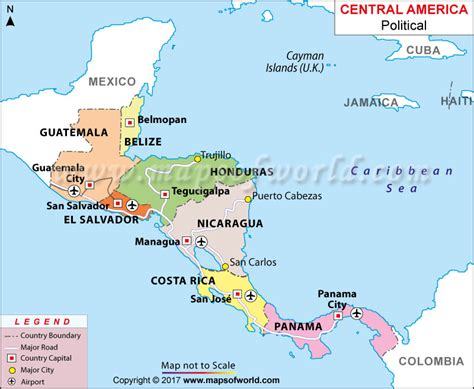 mexico  central america map estarteme