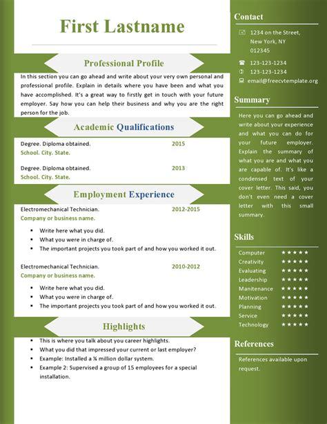 Cv Free by Free Cv Resume Templates 360 To 366 Free Cv Template