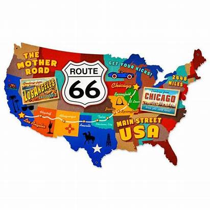 Usa Route 66 Map States United Road