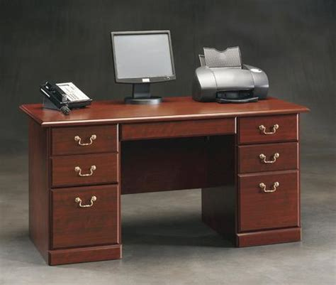 menards sauder computer desk sauder heritage hill classic cherry desk at menards 174