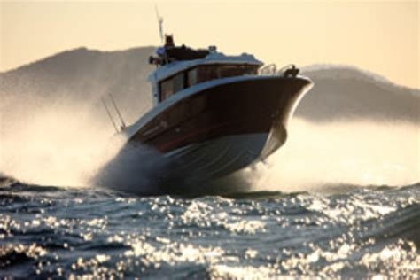 Lobster Boat In Rough Seas by How Different Hull Types React In Rough Water Soundings