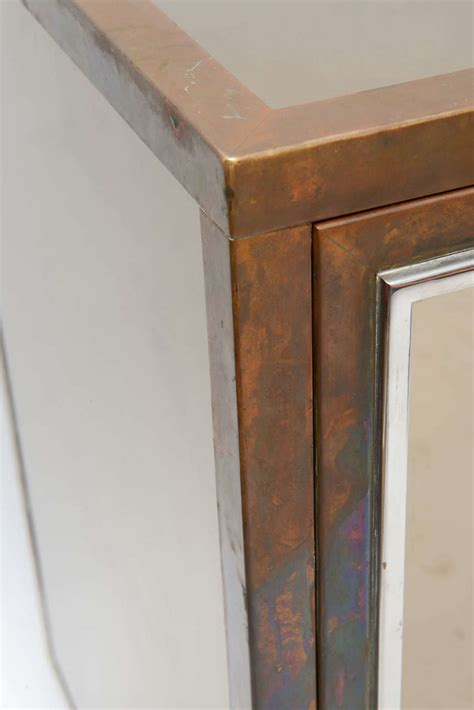 michel pigneres mirrored cabinet for sale at 1stdibs