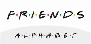 friends tv show alphabet displays to inspire pinterest With show alphabet letters