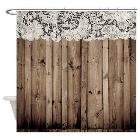 country shower curtains barnwood white lace country shower curtain by listing
