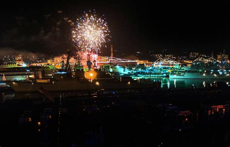 flight deck rochelle fireworks photo of the day new year s day fireworks navy