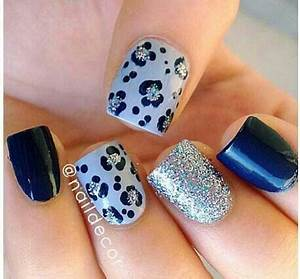 Baby blue nail design | Nail Art! | Pinterest