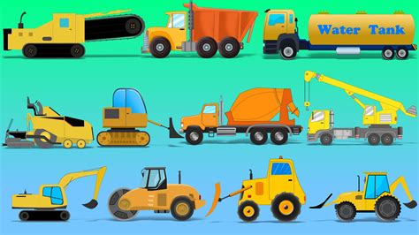 Learn Construction Vehicles