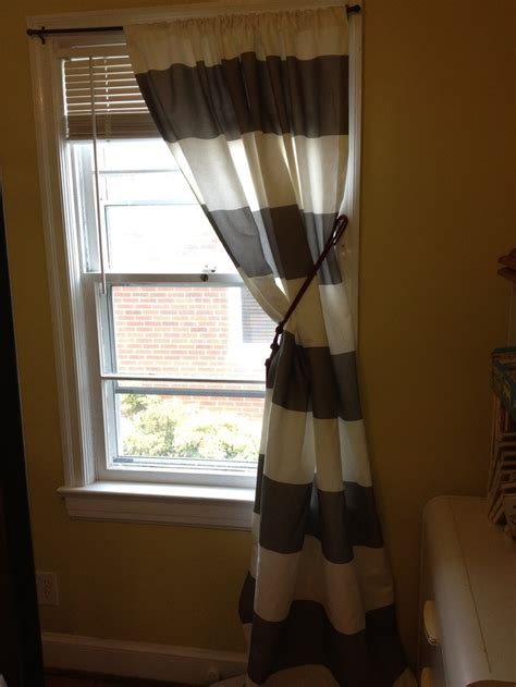 Striped Curtain Panels 96 by Set Of Two 96 Quot Curtain Panels In Gray And White Horizontal