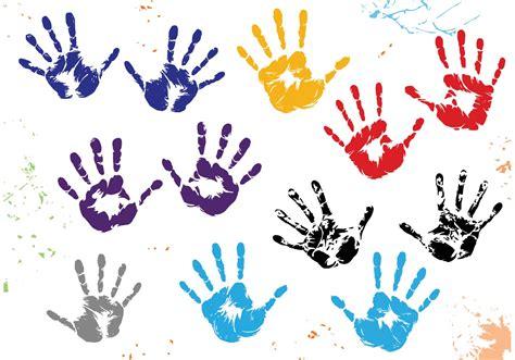 child handprint vectors   vectors clipart