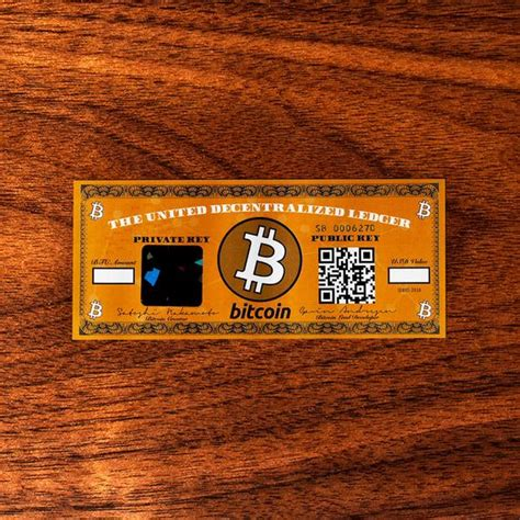 The app is currently used by about 120. Bitcoin BTC Paper Wallet / The ORIGINAL Bitcoin Dollar Bill | Etsy