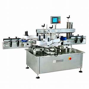 front and back bottle sticker labelling machine labeler With jar labeling machine