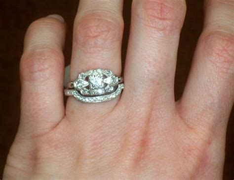 spinoff of your two rings together wedding ring engagement ring