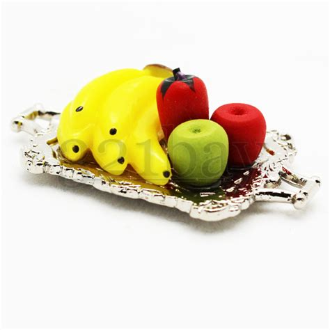 Deko Äpfel Deko Bananen Miniatur Servierplatte Miniatur