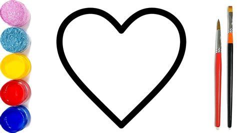 vẽ và tô màu câu đố hình trái tim cho trẻ em cara