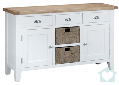 White Painted Sideboard by Florence Painted White Large Sideboard 163 389 00 A