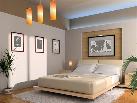 Modern Interior Of A Bedroom With Illumination