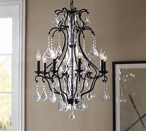 ruby crystal chandelier pottery barn dream crystal With chandeliers at pottery barn
