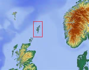 Scotland and Shetland Islands Map